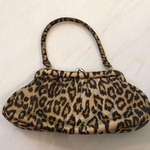 Banana republic silk leopard clutch